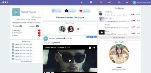 A social website